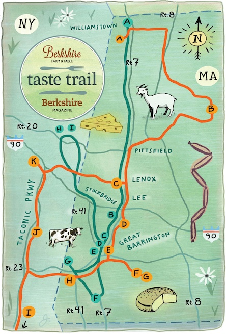 Taste Trails map