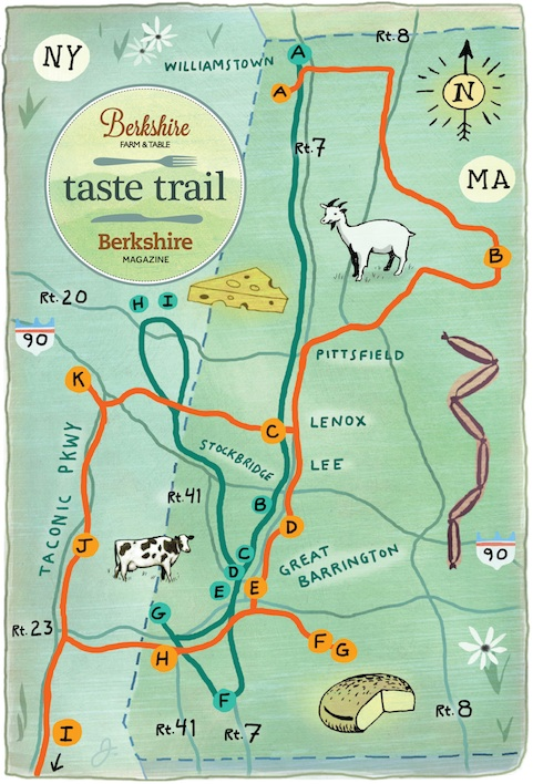 Taste Trails Cheese Map