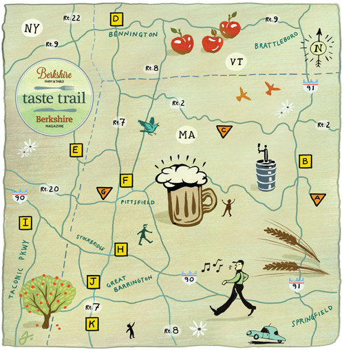 map of vermont breweries Berkshire Beer Cider Trail Berkshire Farm Table map of vermont breweries